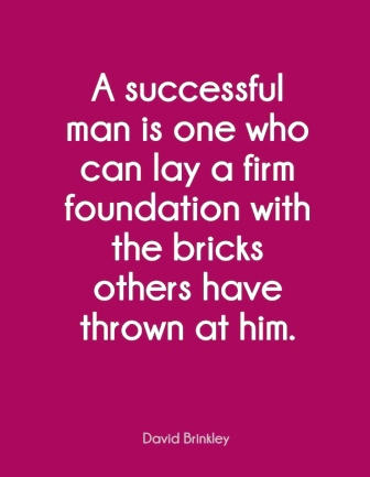 a firm foundation with the bricks